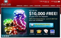 Silver oak online casino. Over $100,000 progressive jackpots.